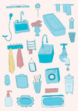 Bathroom objects Royalty Free Stock Image