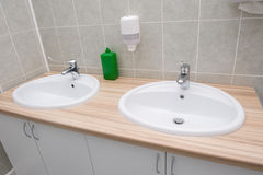 Bathroom at office Royalty Free Stock Image