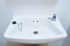Bathroom old basin in apartment Royalty Free Stock Photography
