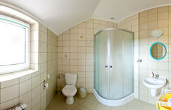 Bathroom panorama Royalty Free Stock Photo