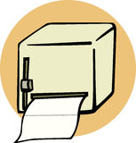 bathroom paper dispenser vector illustration Stock Photos