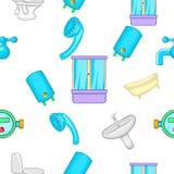 Bathroom pattern, cartoon style Stock Photography