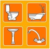 Bathroom patterns Stock Photo