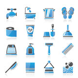 Bathroom and Personal Care icons Stock Photos