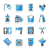 Bathroom and Personal Care icons Stock Image