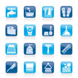Bathroom and Personal Care icons Royalty Free Stock Images