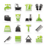 Bathroom and Personal Care icons Royalty Free Stock Image