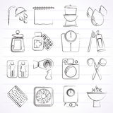 Bathroom and Personal Care icons Stock Images