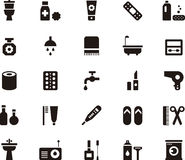 Bathroom and personal care web icons Stock Photos