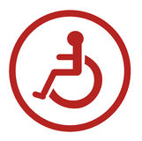 Bathroom for persons with disabilities , disabled toilet , Bathroom signs Royalty Free Stock Photography