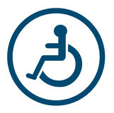 Bathroom for persons with disabilities , disabled toilet , Bathroom signs. EPS10 royalty free illustration