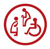 Bathroom for persons with disabilities. disabled toilet sign Stock Images