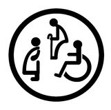 Bathroom for persons with disabilities. disabled toilet sign. EPS 10 stock illustration