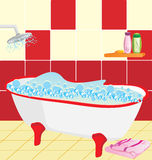 Bathroom. Preparation to bathing Royalty Free Stock Images