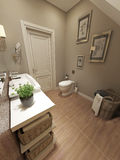 Bathroom in  Provence style Royalty Free Stock Photos