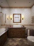 Bathroom in provence style Royalty Free Stock Photography