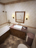 Bathroom in provence style Royalty Free Stock Photo