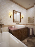 Bathroom in provence style Royalty Free Stock Images