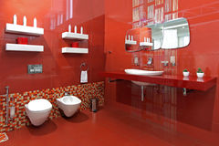 Bathroom red Royalty Free Stock Photo