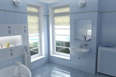 Bathroom Render Stock Image