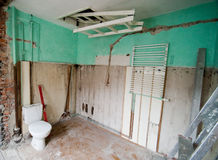 Bathroom Renovation. Royalty Free Stock Images