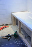 Bathroom renovation project. After some major leakage problems royalty free stock image