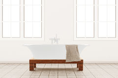 Bathroom with retangle windows Stock Photo