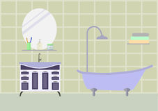 Bathroom room with furniture. Eps10  illustration Stock Photography