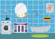 Bathroom room in modern style. Eps10  illustration Stock Photography