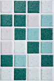 Bathroom's tiles. Colorful modern mosaic tile in a bathroom Royalty Free Stock Photo