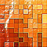 Bathroom's tiles orange and re Stock Image