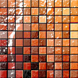 Bathroom's tiles orange and re Royalty Free Stock Image