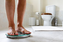 Bathroom scale Royalty Free Stock Photo