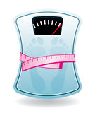 Bathroom scale Stock Images