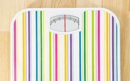 Bathroom scale with clean dial with lines no numbers Royalty Free Stock Photos