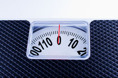 Bathroom Scale close up. On wite background Stock Photos