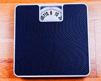 Bathroom Scale close up. On plywood Stock Photography
