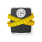 Bathroom Scale Concept of Health Care. Vector Stock Photo