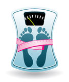 Bathroom scale. Diet program. Stock Photography