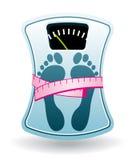 Bathroom scale. Diet program. Bathroom scale. Diet program concept Stock Photography