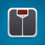 Bathroom Scale With Electronic Display Unit. Vector illustration Stock Photos