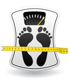 Bathroom scale icon for healthy weight concept. Royalty Free Stock Image