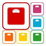 Bathroom scale icon Royalty Free Stock Image