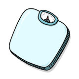 Bathroom scale illustration Royalty Free Stock Images