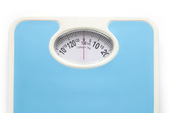 Bathroom scale isolate. Over white square background Stock Photography
