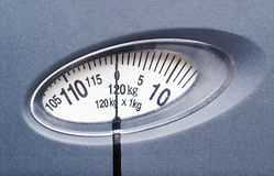 Bathroom scale isolated Stock Photography