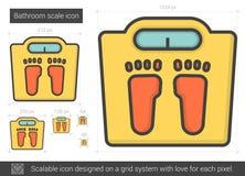 Bathroom scale line icon. Stock Photos