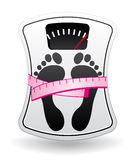 Bathroom scale with measure meter Stock Image
