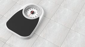 Bathroom scale in pounds Stock Images