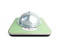 Bathroom scale tray Stock Images